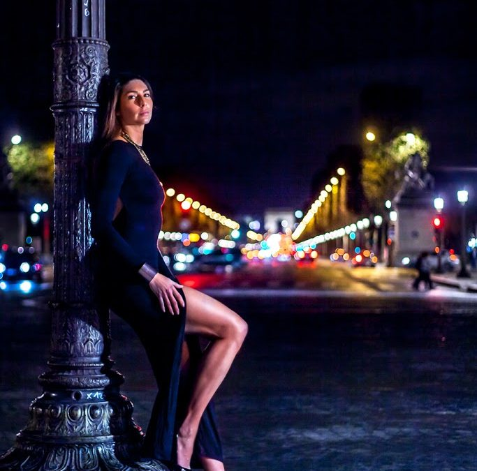 Night shooting in Paris